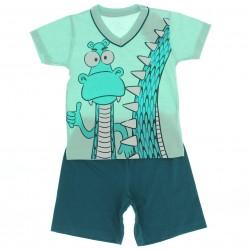 Pijama Brandili Infantil Menino Drag�o Decote V 27473