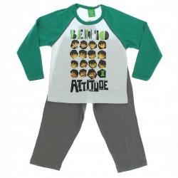 Pijama Comprido Ben 10 Menino Malha Estampado - 28413