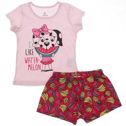 Pijama de Verão Brandili Infantil Menina Shorts Frutas 30667