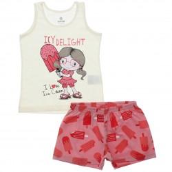 Pijama de Verão Brandili Infantil Menina Sorvete Delight 30665