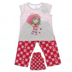 Pijama Infantil Brandili Menina Cal�a Estampada Guarda Chuva