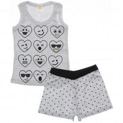 Pijama Infantil Have Fun Menina Corações Tachas 30179