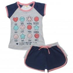 Pijama Infantil Have Fun Menina My Family Glitter 30741