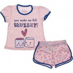 Pijama Infantil Have Fun Menina Squishy e Shorts Estampado 31753
