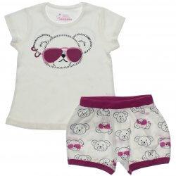 Pijama Infantil Have Fun Menina Ursa Óculos Tachas 31752