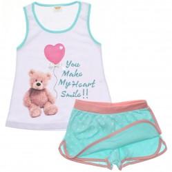 Pijama Infantil Have Fun Menina Urso Balão 30181