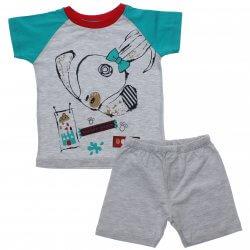Pijama Infantil Have Fun Menino Cachorro Bermuda Lisa 31758