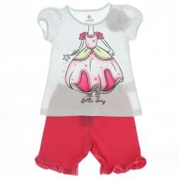 Pijama Infantil Menina Bermuda Desenho Corpo - 27471