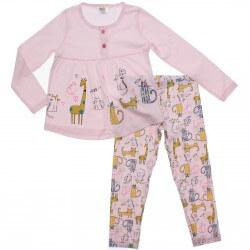 Pijama Inverno Have Fun Menina Girafinha Animais 31281
