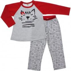 Pijama Inverno Have Fun Menina Pandas e Gatinhos 31277