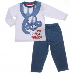 Pijama Inverno Have Fun Menino Macaquinho Im not tired 31286