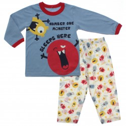 Pijama Inverno Have Fun Menino Monstrinho Number One 31284