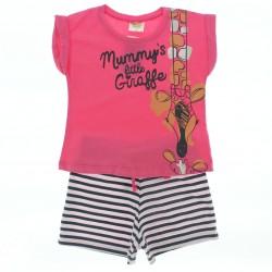 Pijama Ver�o Have Fun Infantil Menina Estampa Girafa 29013