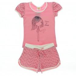 Pijama Ver�o Have Fun Infantil Menina I like Sleeping 29014