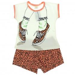 Pijama Verão Have Fun Infantil Menina Tenis Oncinha 29238