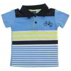 Polo Alakazoo Infantil Menino Com Listras Estampa Bike 28849