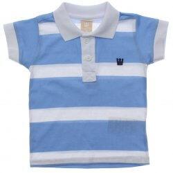 Polo Infantil Menino Colorittá Listrada Bordado 4 ao 14 31619