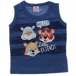 Regata Brandili Bebê Listras Hello Little Friends 31438