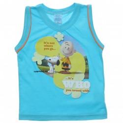Regata Infantil Snoopy Estampada Vies Manga 30809