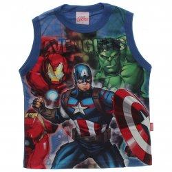 Regata Marvel Infantil Vingadores Brilha no Escuro 31459