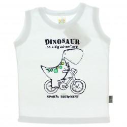 Regata Pulla Bulla Bebê Dinossauro Bicicleta 29196