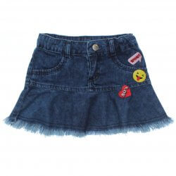 Saia Jeans Have Fun Infantil Menina Barra Desfiada Boton 31706
