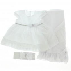 Saida Maternidade Para�so Menina Vestido Babado Renda 29007