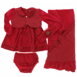 Saida Maternidade Para�so Menina Vestido Bolero Plush 28236
