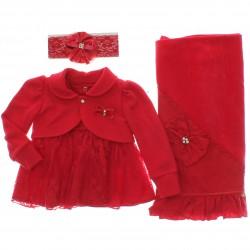 Saida Maternidade Para�so Menina Vestido Bolero Plush 29568