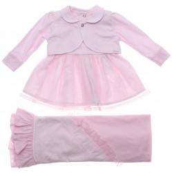 Saida Maternidade Paraíso Menina Vestido Bolero Tule 31200