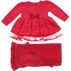 Saida Maternidade Paraíso Menina Vestido Jacquard Tule Barra 31201