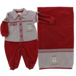 Saida Maternidade Para�so Menino Macac�o Plush Bolso Bord 28