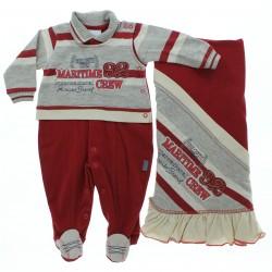 Saida Maternidade Para�so Menino Malha Maritime Crew 28689