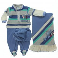 Saida Maternidade Para�so Menino Malha Surf Bon� 28694