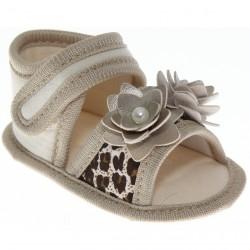 Sandália Keto Baby Menina Velcro Flor Oncinha Flor 30375