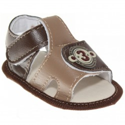 Sandália Keto Baby Menino Velcro 3 Bordado 30389