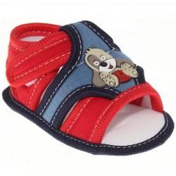 Sandália Keto Baby Menino Velcro Bordado Cachorro 30388