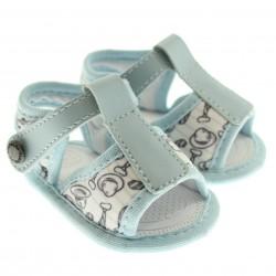 Sandália Pimpolho Bebê Infantil Menino Velcro Gravata 29082