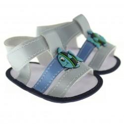 Sandália Pimpolho Bebê Infantil Menino Velcro Peixe 27514