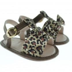 Sandália Pimpolho Bebê Menina Baby Fashion Onça 27722