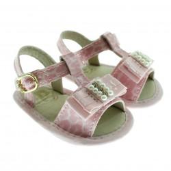 Sand�lia Pimpolho Beb� Menina Baby Fashion Oncinha 29084