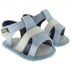 Sandália Pimpolho Bebê Menino Velcro Tiras 27550