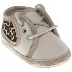 Sapato Keto Baby Menina Cadarço Oncinha 30395