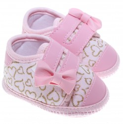 Sapato Keto Baby Menina Velcro Laço Corino Coração 31265