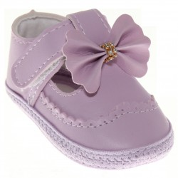 Sapato Keto Baby Menina Velcro Laço Strass 30382