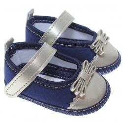 Sapato Keto Baby Menina Velcro Ponteira Corino Dourado 31256