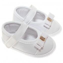 Sapato Keto Baby Menina Velcro Verniz Laço Strass 31267