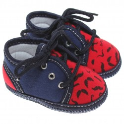 Sapato Keto Baby Menino Cadarço Estampa Bigode 31273