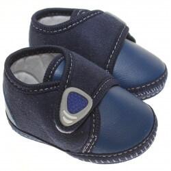 Sapato Keto Baby Menino Velcro Aplique Veludo 31268