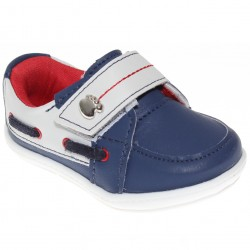 Sapato Pé Com Pé Menino Nenem Velcro Cordão Lateral 30251